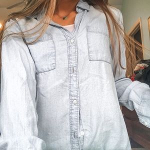 WORN ONCE thread and supply button up